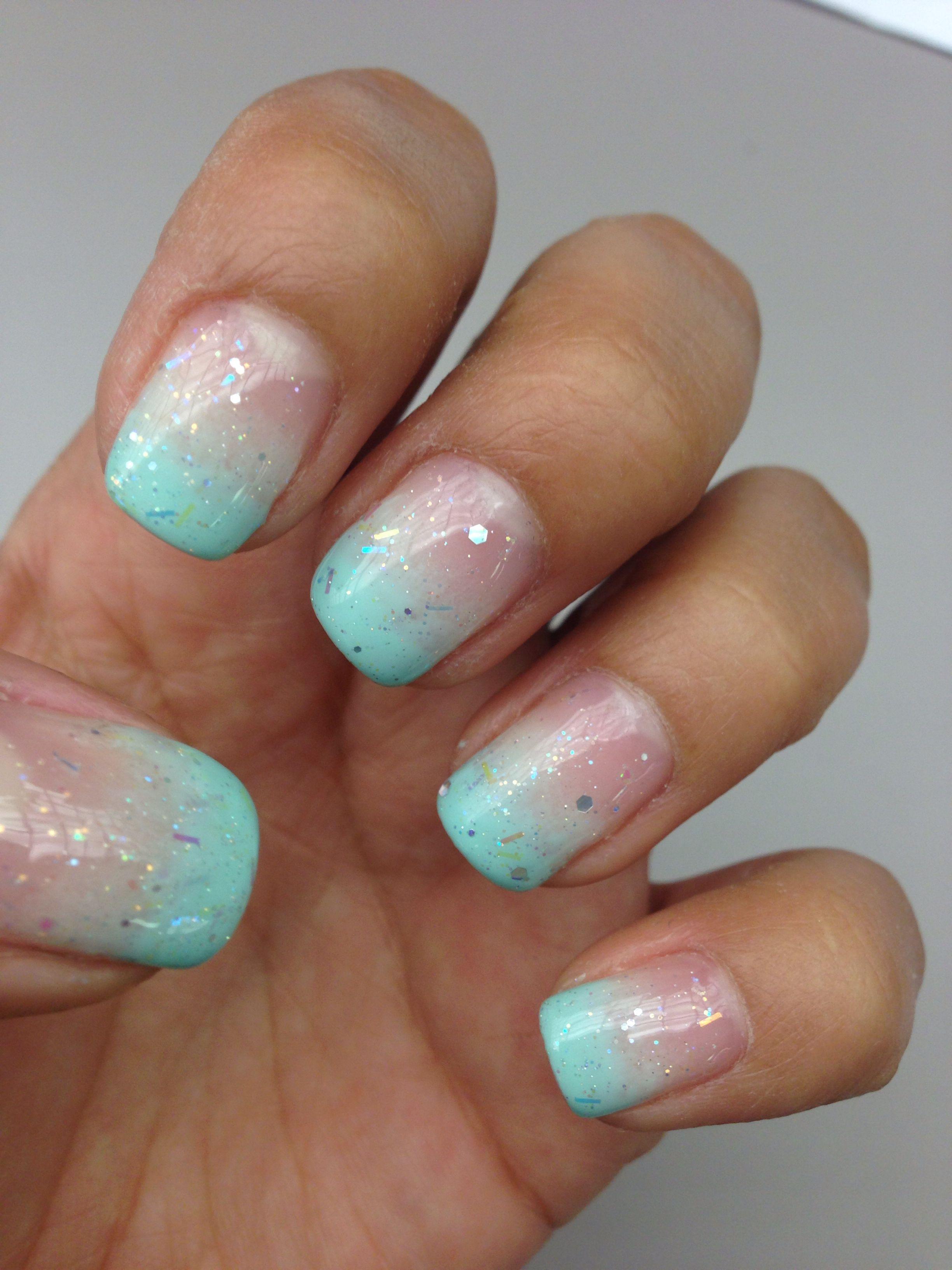 Tiffany blue nails-frosty nails | Fashion passion | Pinterest ...