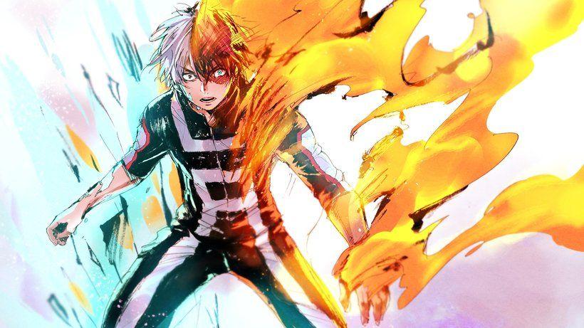 Shoto Todoroki Fire Ice My Hero Academia Boku No Hero Academia Anime 3840x2160 4k Wallpaper My Hero Academia Hero My Hero