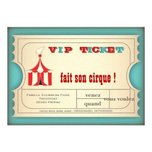 anniversaire cirque vintage