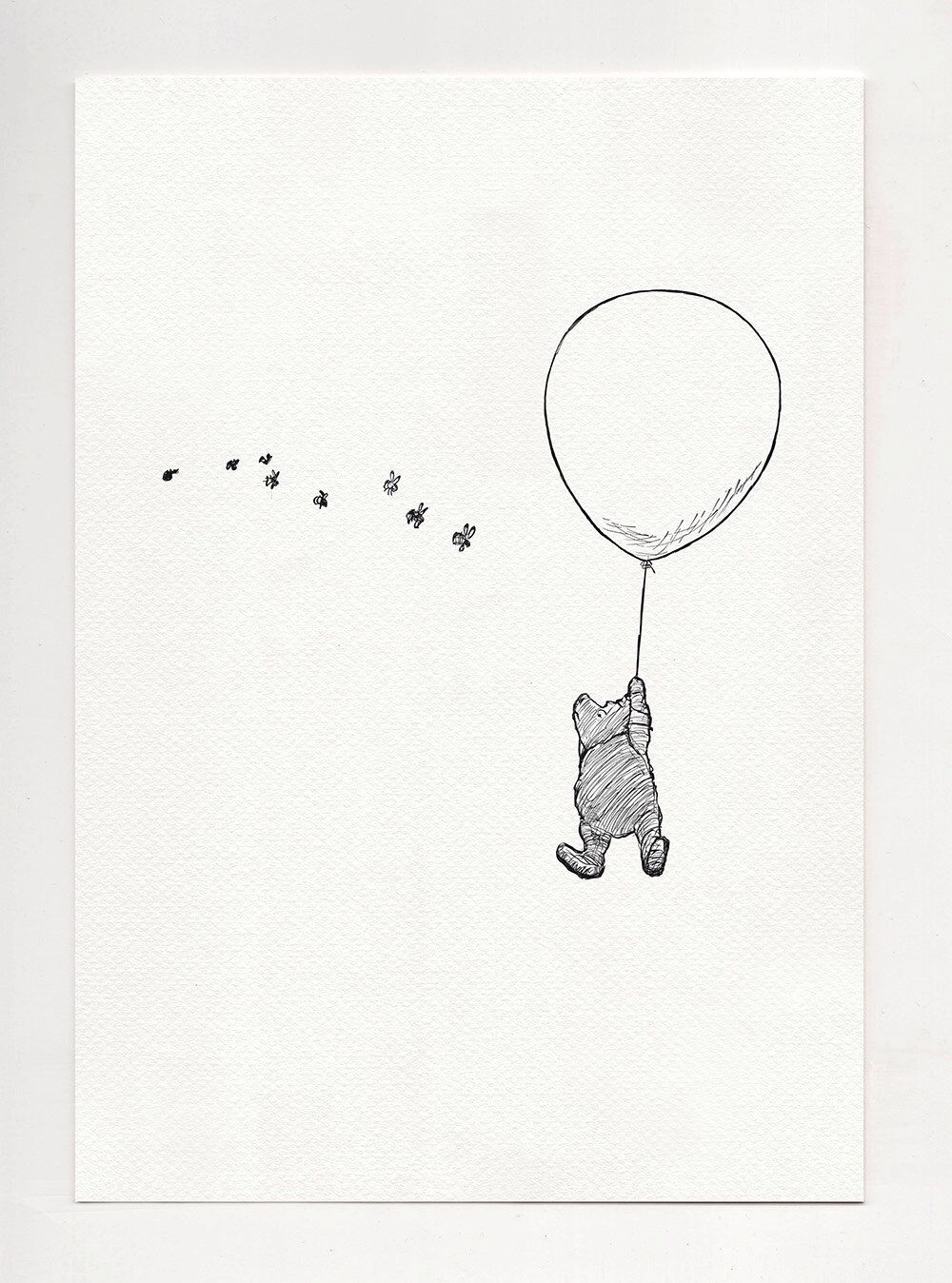To Be A Cloud Winnie The Pooh Simple Poster Print Copy