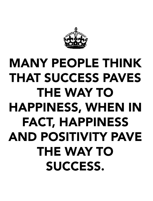 The true path to success~