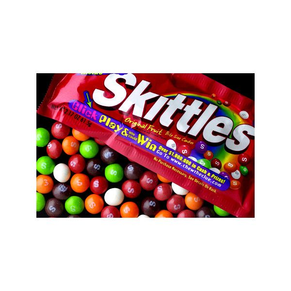 History of Skittles Candy liked on Polyvore featuring food ...