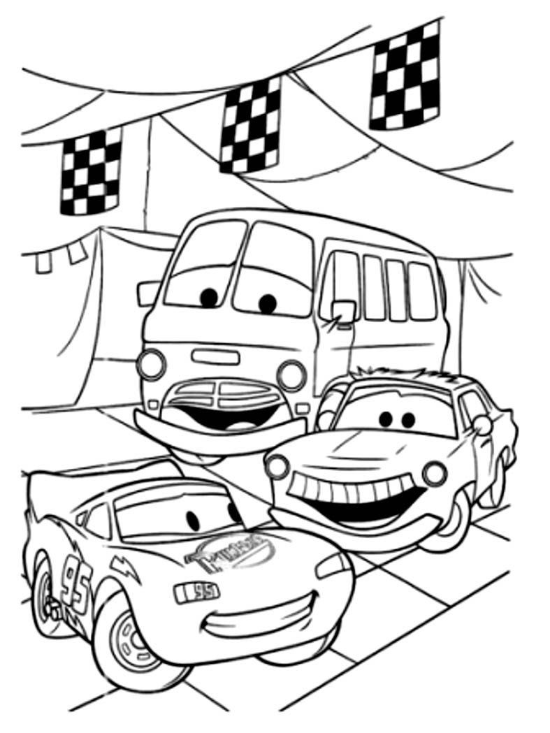 Red Car Coloring Pages Collection