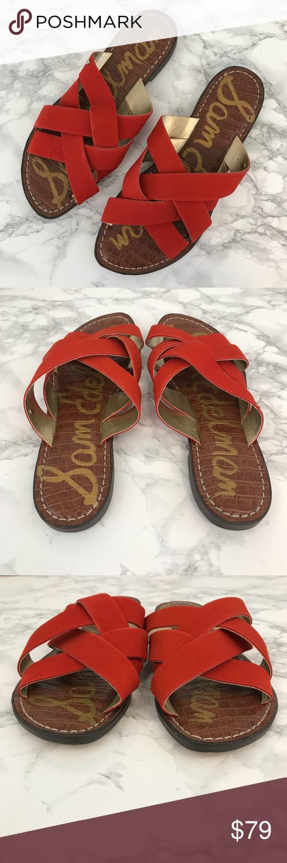 c126e6e0b67a Sam Edelman Gaile Slide Sandal Red 8.5 These sandals from Sam Edelman are a  beautiful shade