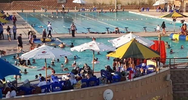 كرنفال حمام السباحة فى نادى المعادى القطامية Basketball Court Hockey Rink Hockey
