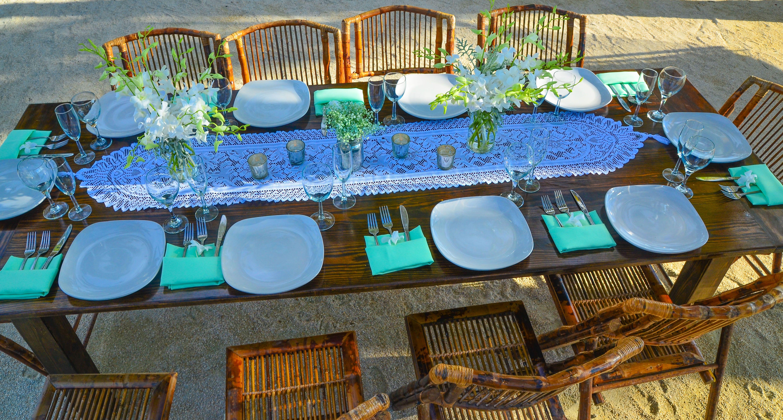 Caribbean Catering Beach Weddings: Farmtables W/ Lace For Your Florida Keys Vintage Beach