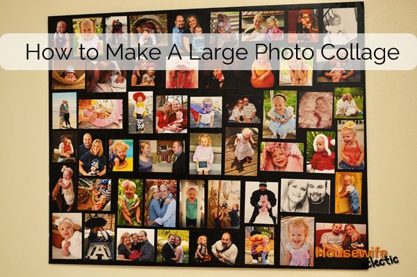 How To Make A Large Photo Collage Housewife Eclectic Framed Photo Collage Photo Collage Large Collage Picture Frames