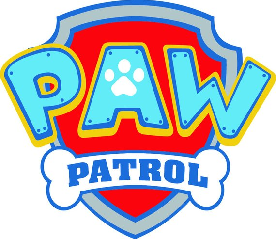 Paw patrol shield. Svg digital