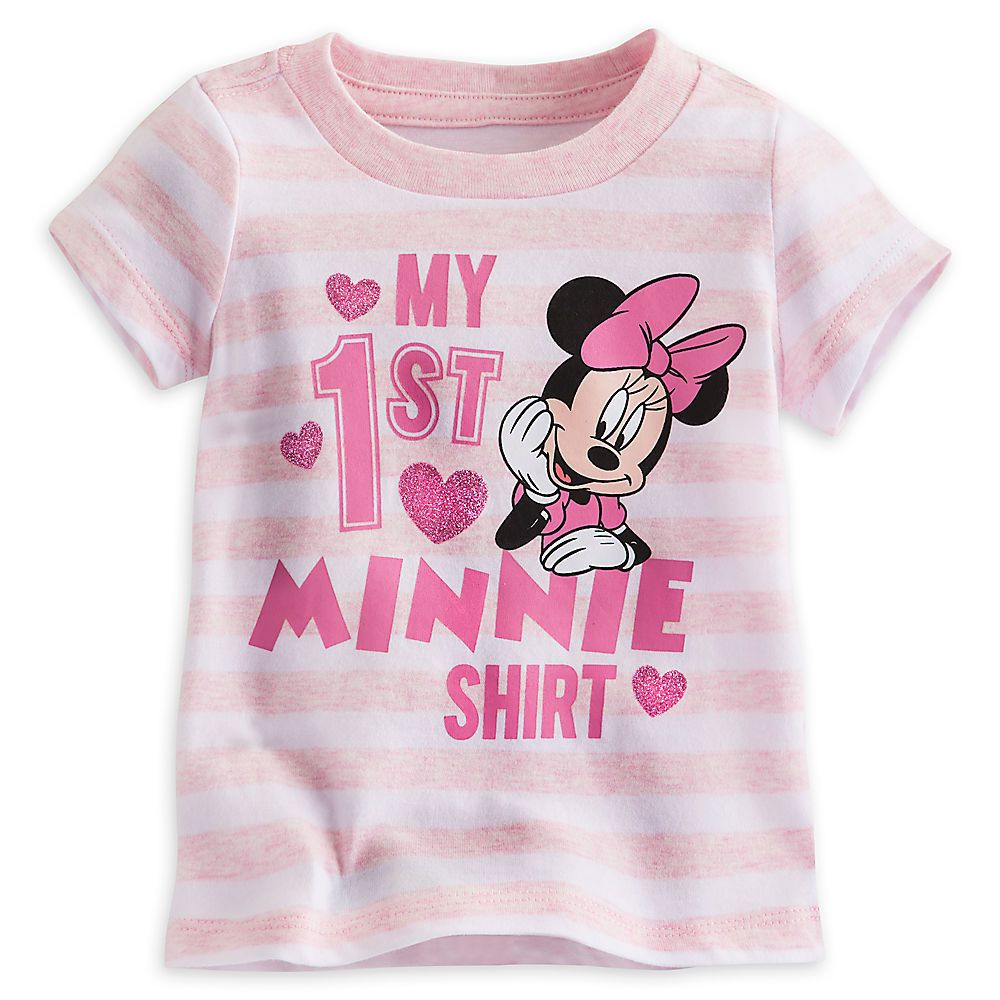 "Disney Store /""My First /"" Minnie Mouse Girls Baby Shirt Pink Size 3 6 9 12 Months"
