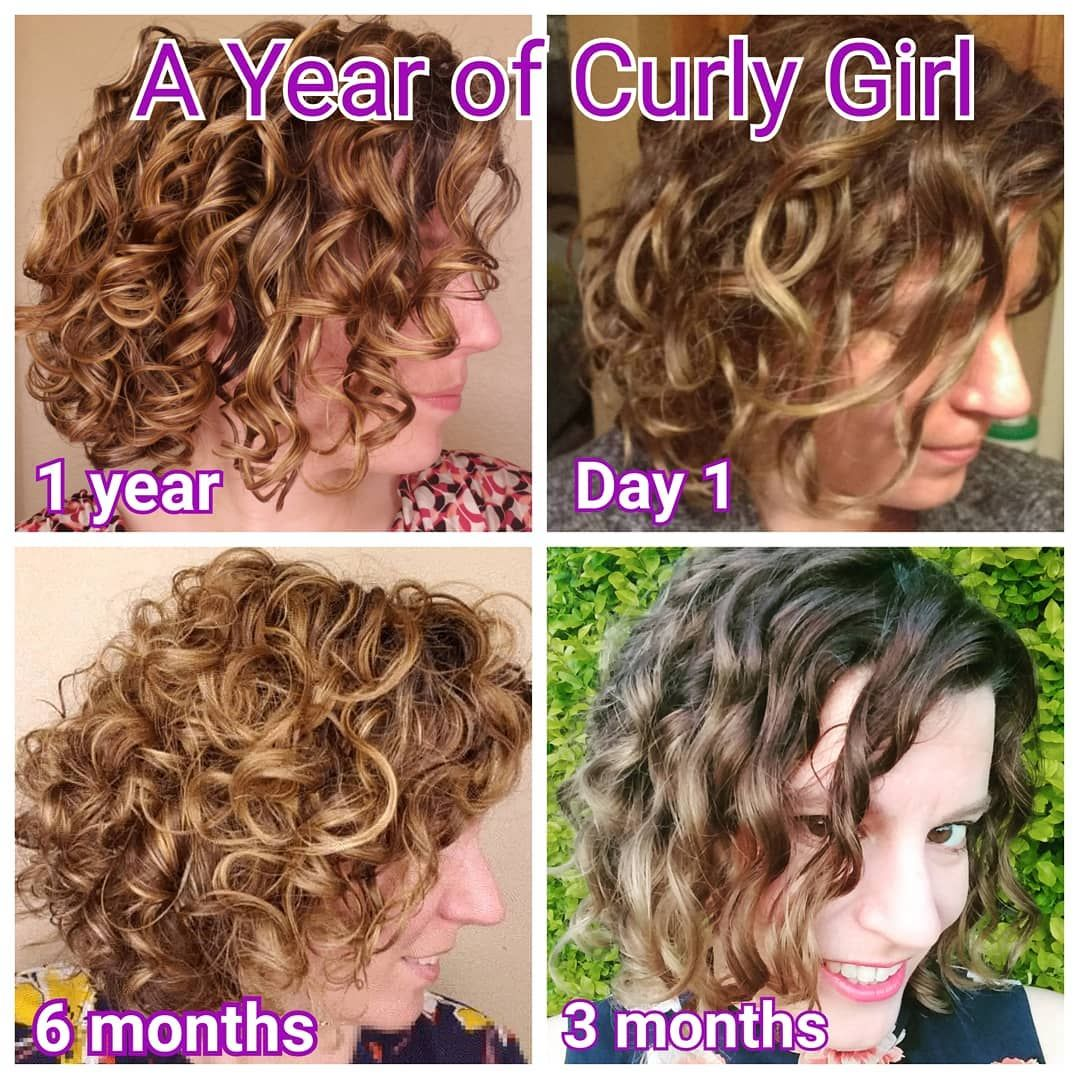 Leah On Instagram Wow A Whole Year Of Curly Girl Method Happy Curlversary To Me It S Pretty Amazing To Curly Girl Method Curly Hair Styles Curly Girl