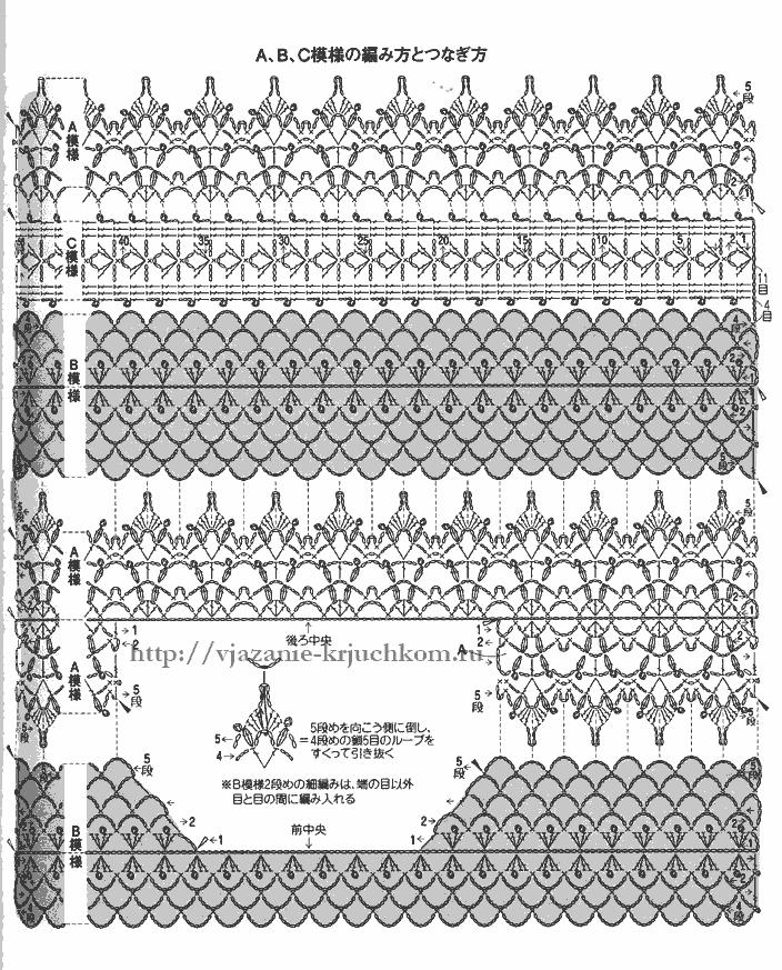 Летние блузки крючком схемы.