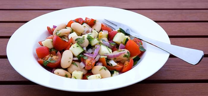 Butter Bean Tomato Salad With Images Best Dinner Recipes Whole Food Recipes Baked Beans Salad