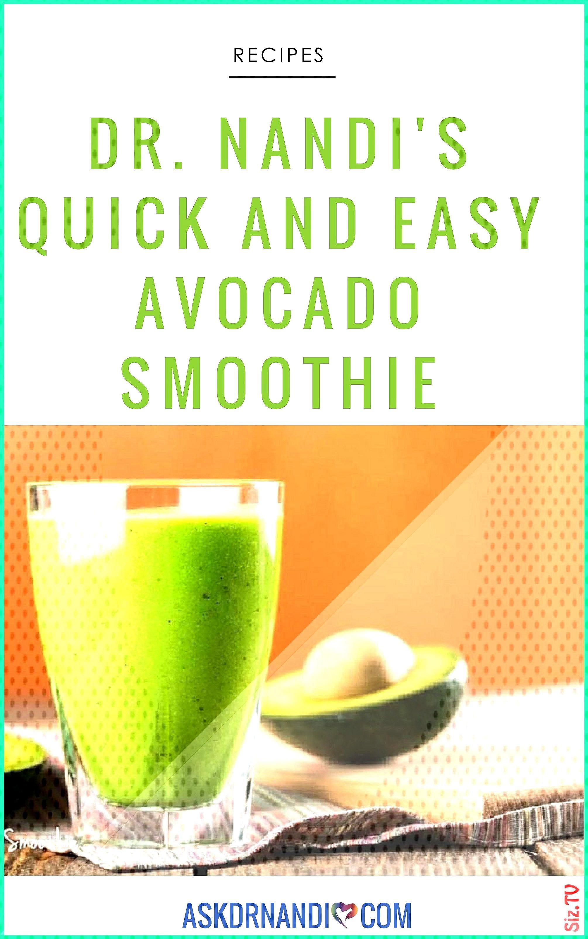 DR NANDIS AVOCADO SMOOTHIE Smoothie Recipe Avocado Recipe Organic food recipes Healthy recipes Clea
