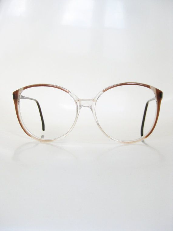 Vintage 1980s Round Eyeglasses Dark Red Oxblood Pearl Womens Glasses ...