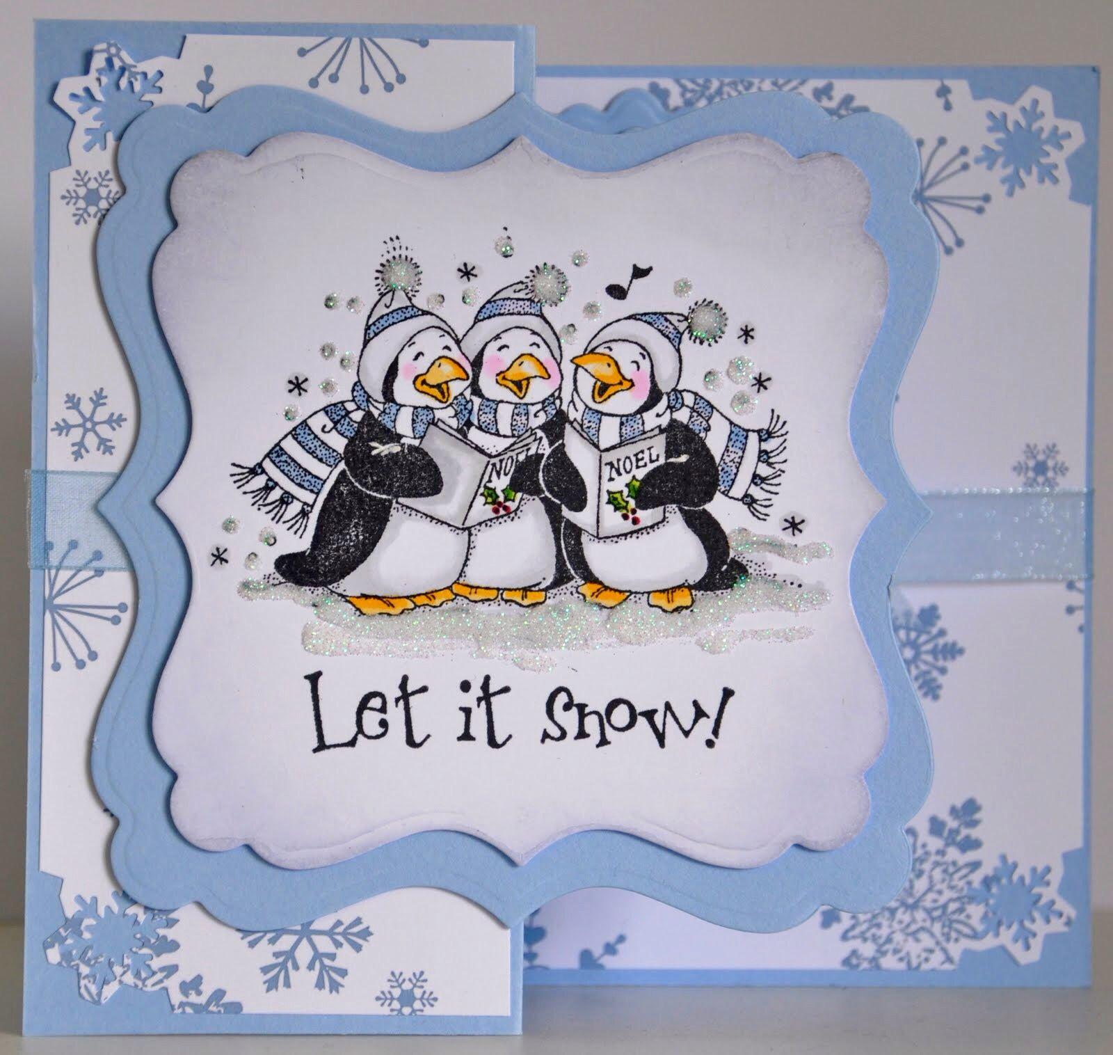 Christmas Card Club Challenge Carol Singers (med Bilder