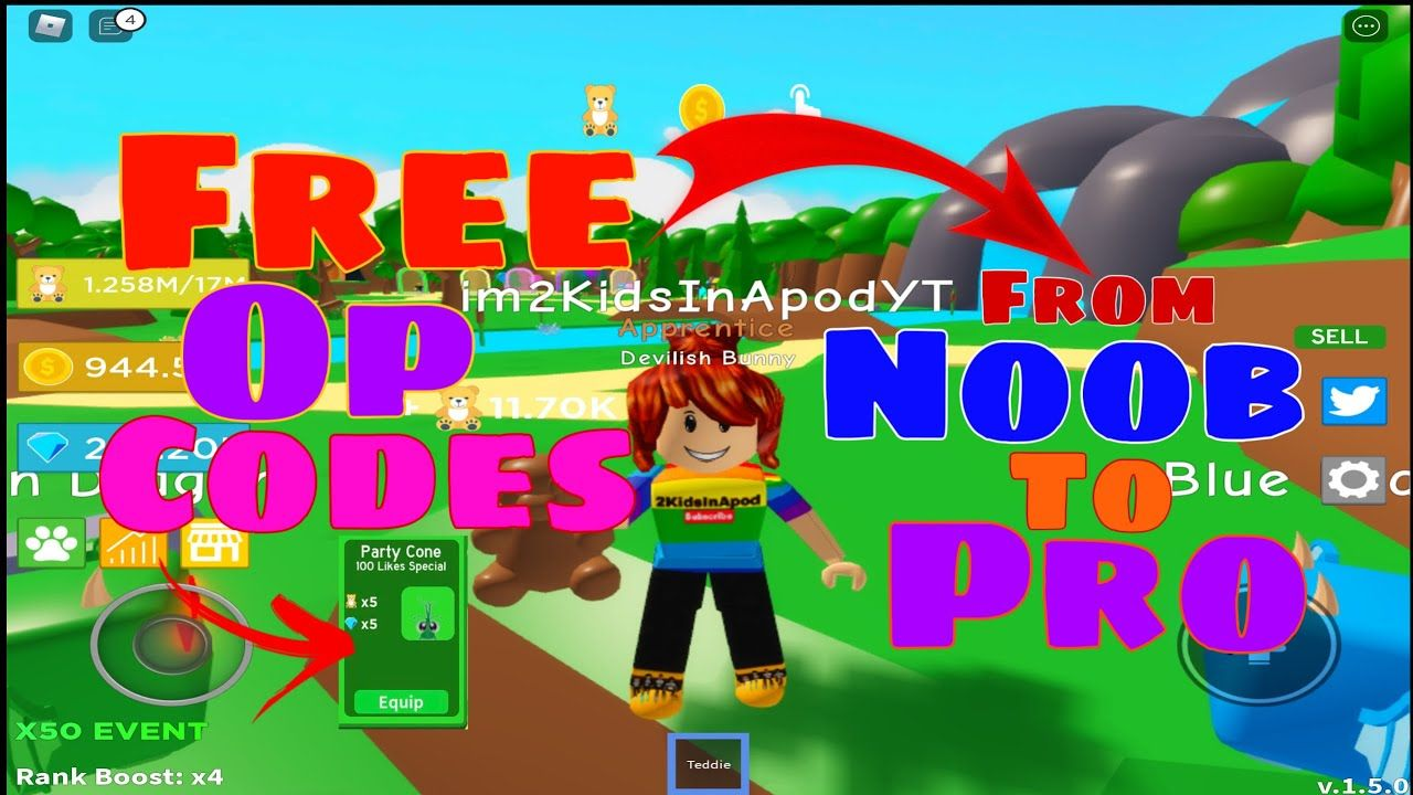 *NEW* ALL WORKING FREE CODES TEDDIE SIMULATOR by MrGDR3