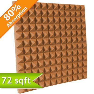 "Soft Sound Pyramid Studio Foam 2"" Pumpkin: - Soft Sound Pyramid Studio Foam was originally designed to reduce reverberation within recording studio environments, however, it will improve the acoustics within any space that suffers from poor acoustics. Pyramid Studio Foam has a 3D pyramid pattern that not only looks cool, but improves the sound absorbing performance of a room by increasing the surface area."
