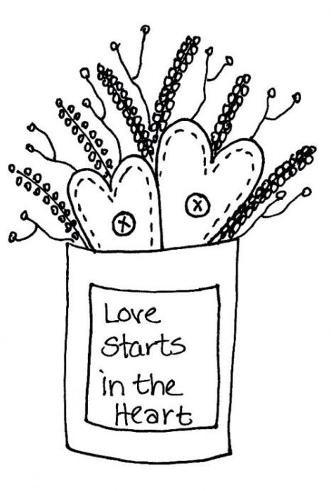 Love starts in the heart Transfers | Penny Rugs | Pinterest ...