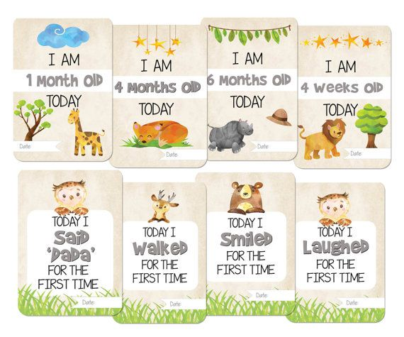 b3c3e91fba9 PRINTABLE Baby Milestone Cards - Pack of 30 (these are PRINTABLES - the  actual cards will not be mailed to you) If you would like to purchase