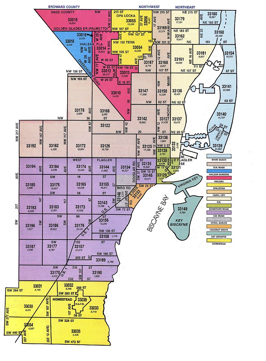 Miami Zip Codes Map Pin by joana avelar quintas on Miami & South Florida | Zip code
