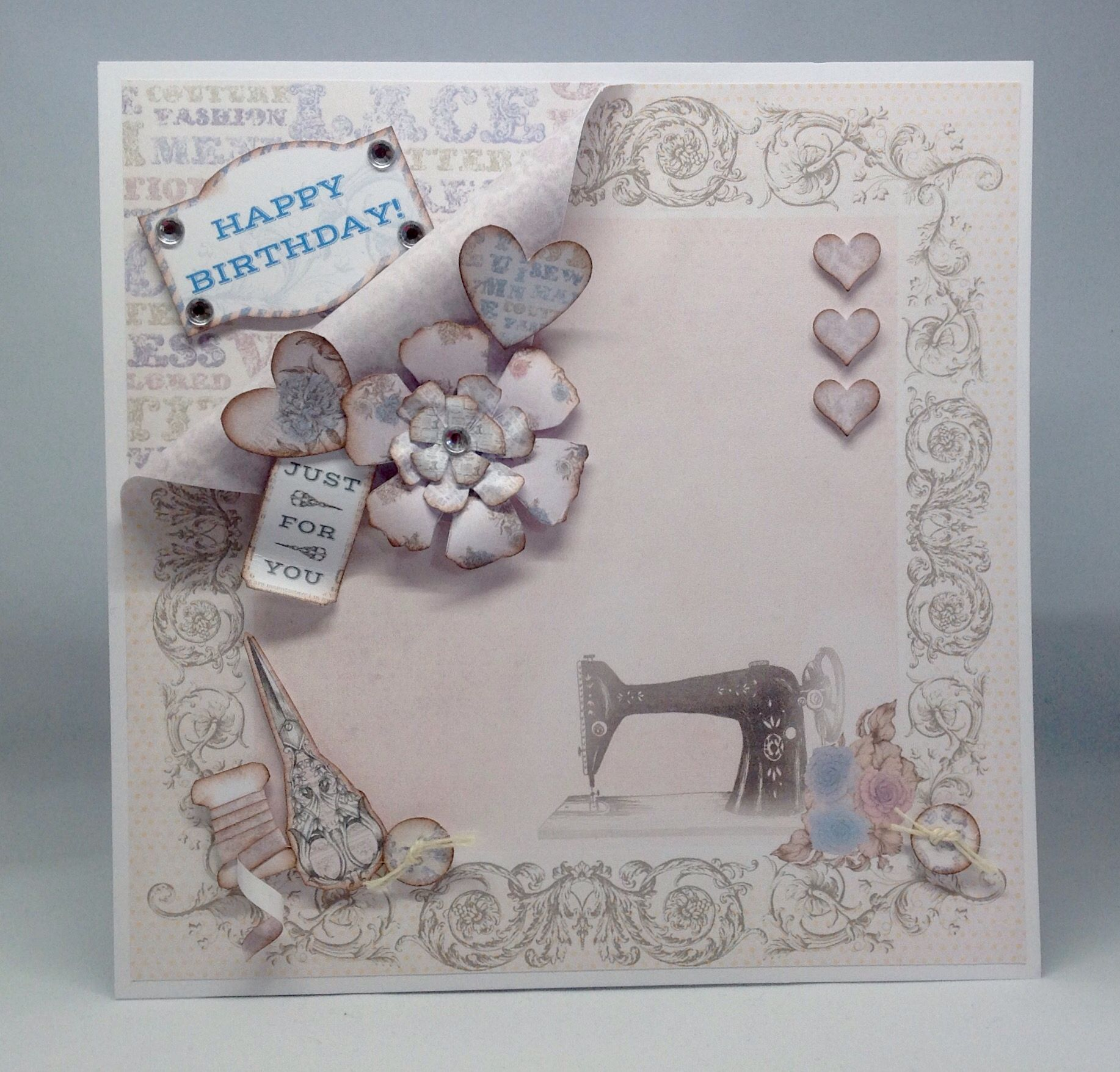 Card Created Using Sophisticate Usb Paper Couture Bella