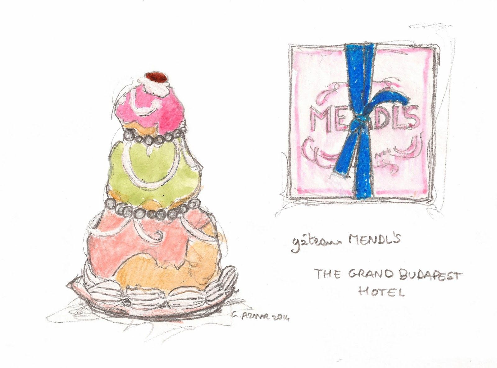 the grand budapest hotel illustration google search cinema mendls the grand budapest hotel fan art gabrielle