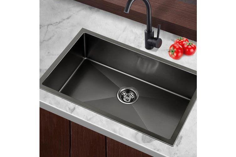 Cefito Kitchen Sink Nano Stainless Steel Handmade Single Bowl Laundry 700x450mm Kogan Com Stainless Steel Kitchen Stainless Steel Kitchen Sink Sink