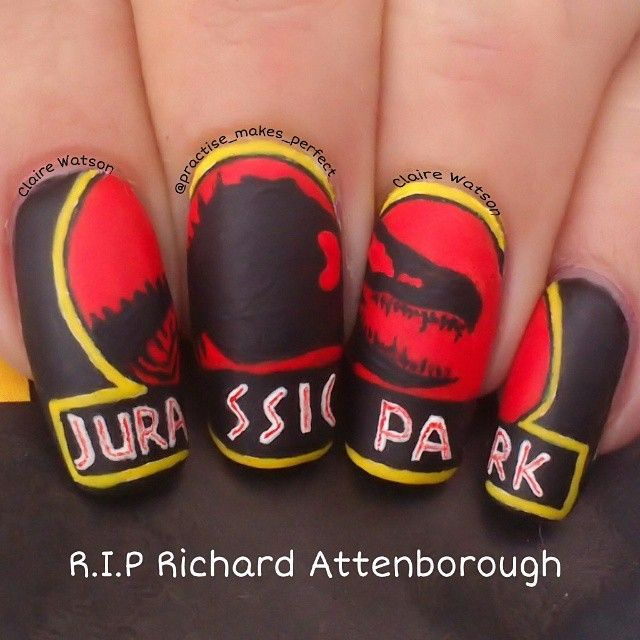 Instagram media by practise_makes_perfect -Jurassic Park #nail ...