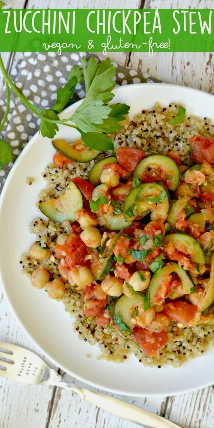 When summer squash i  When summer squash is in season, make Zucchini Chickpea Stew! It's vegan and gluten-free, with an oil-free option. Serve it over quinoa for a complete meal. via Veggies Save The Day  https://www.pinterest.com/pin/11681280267714540/