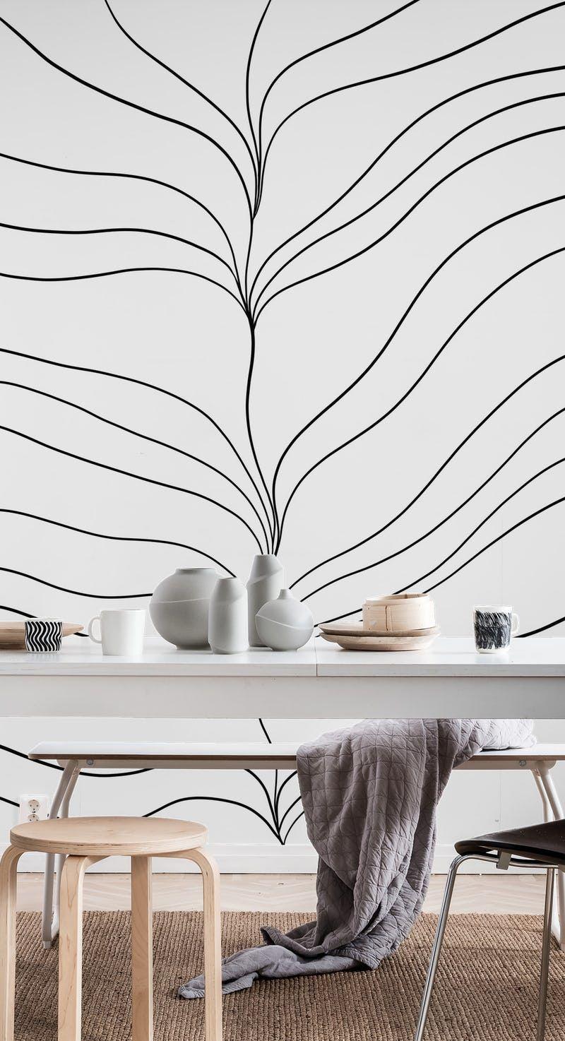 Minimal Ocean Dream Waves 1 Wallpaper In 2020 Wall Murals Dream Wave Mural