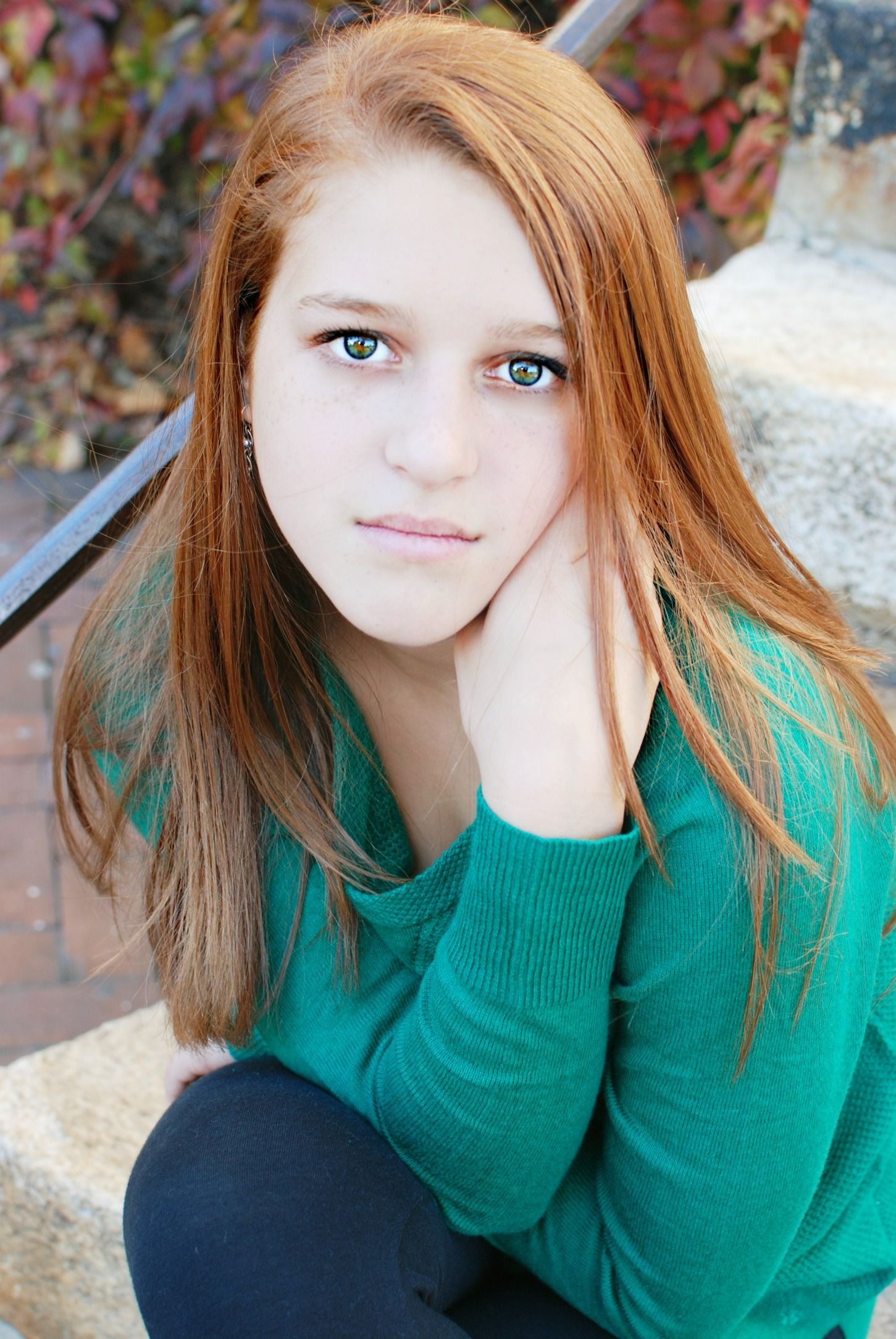 Teen redheads posing