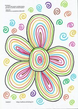 La fleur en graphisme arts visuels pinterest les - Fleurs printemps maternelle ...