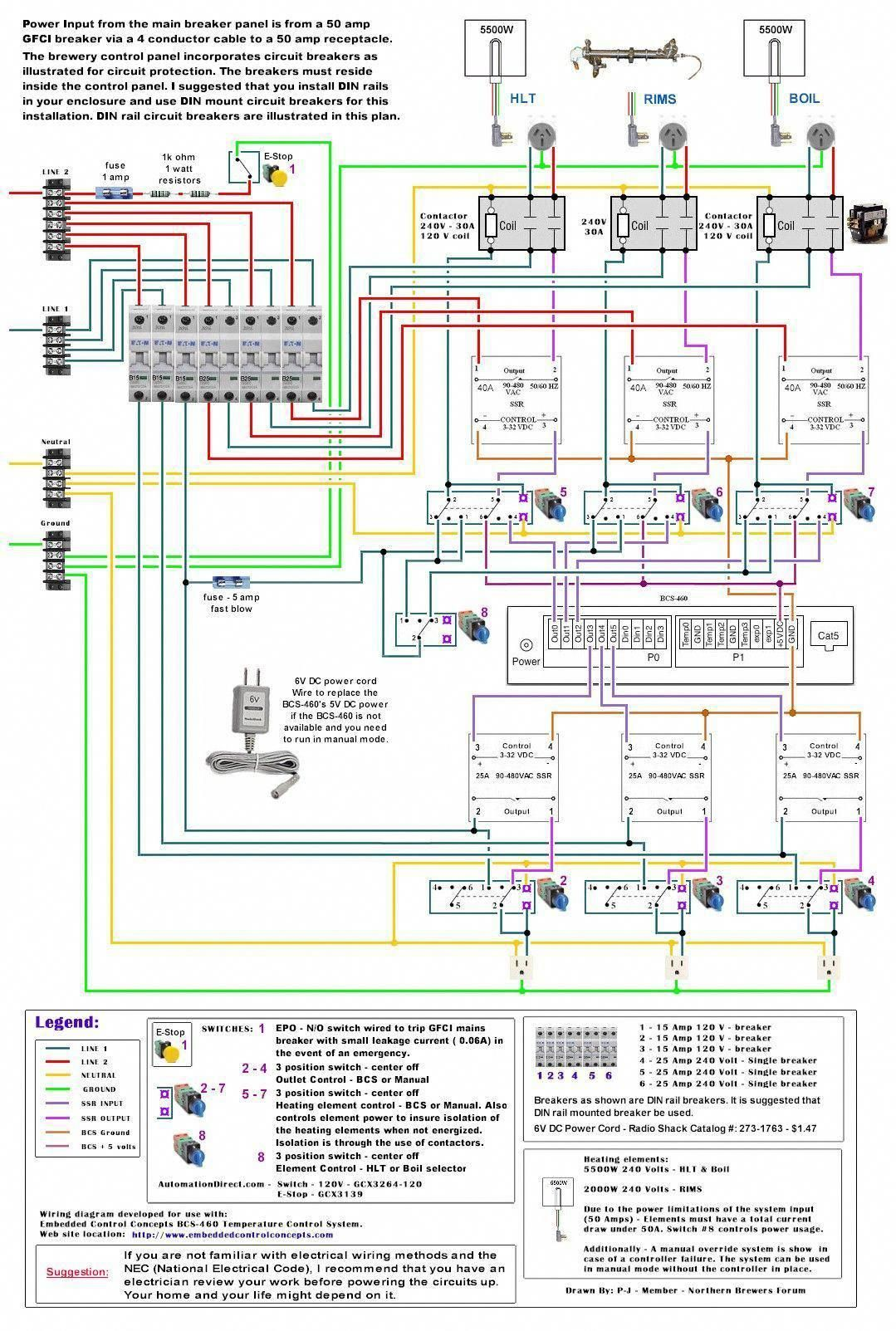 Electric Brewing Diagrams Homebrewingsetup Homebrewingdiy Home