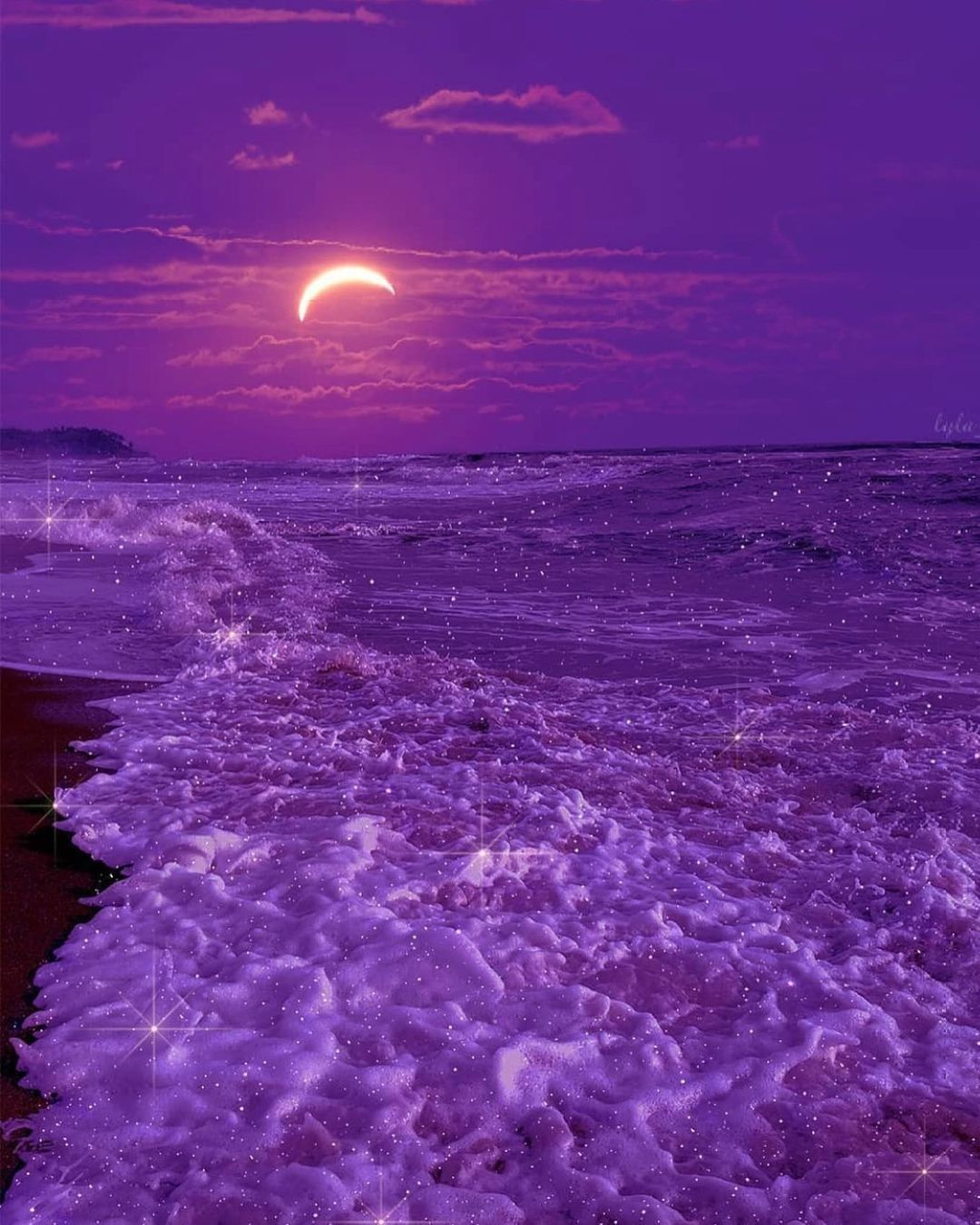 Outrun Youth On Instagram Star Filled Tides Lyla Ab Check Out Manhattanbuzz N Purple Aesthetic Background Best Landscape Photography Sky Aesthetic