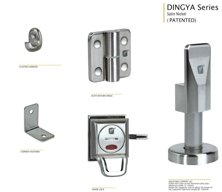 Toilet Cubicle Hardware Hpl And Toilet Partition Hardware Dingya