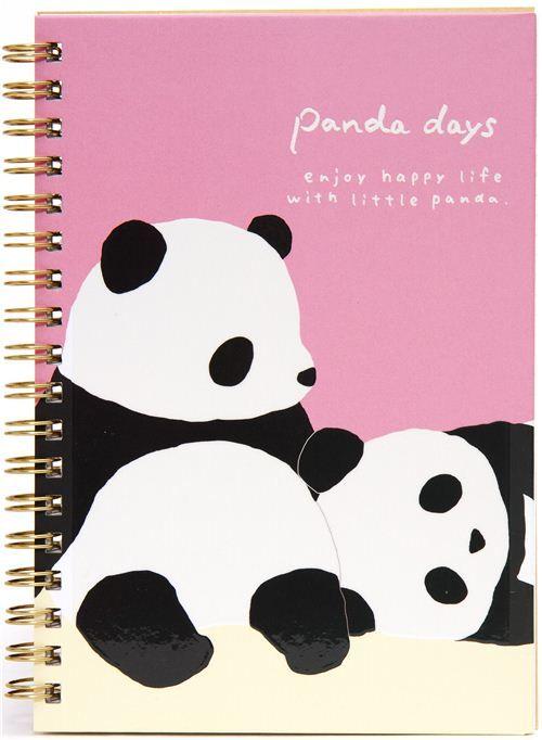 Kawaii Ring Binder Notebook With Panda Bears From San X