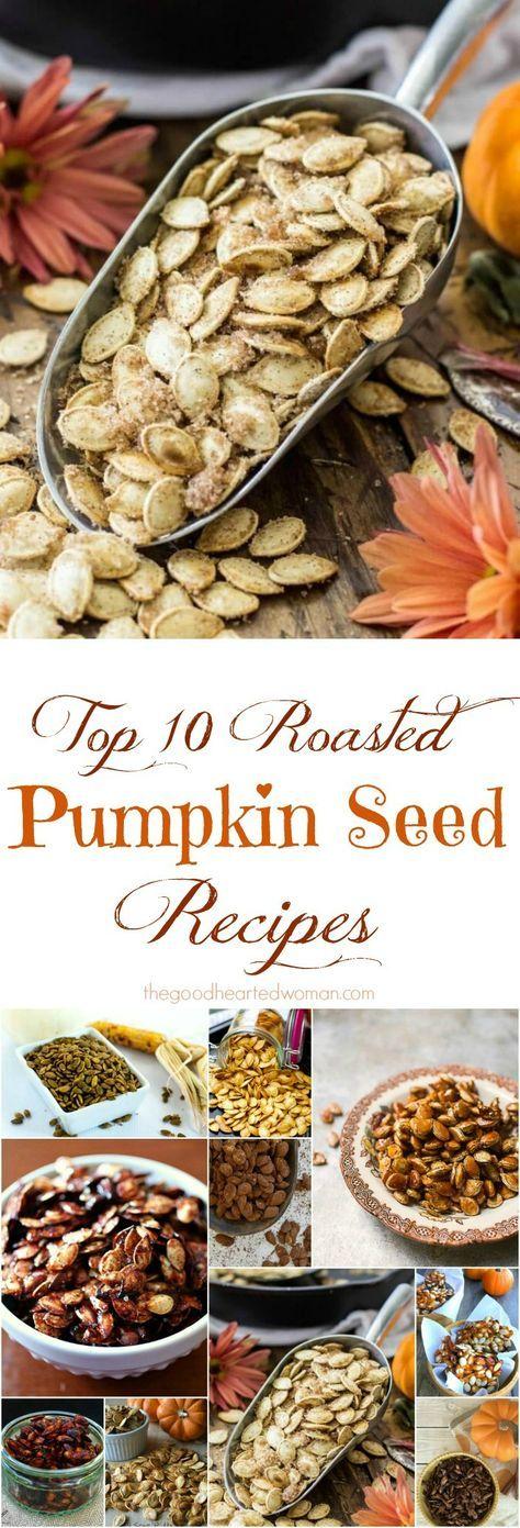 Top 10 Best Roasted Pumpkin Seed Recipes {+ Halloween Memories} #pumpkinseedsrecipe