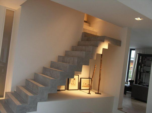 Betonnen trap design di stairs stairs