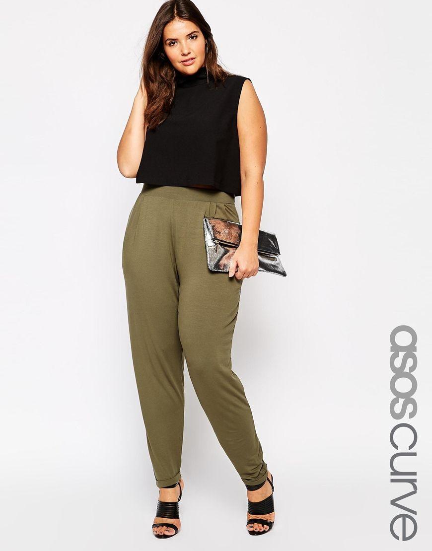 6fb71683c391 ASOS CURVE Peg Trouser in Khaki   Plus Size Career Wear   Fashion ...