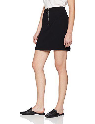 12fbfd1f54537 Morgan 181-JANET.F Jupe Femme (Noir 100) 38 (Taille Fabricant: T38 ...