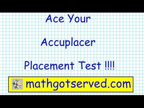 Accuplacer Arithmetic Pt I Testprep Exam Practice Math Placement Community College Prep Tips Youtube College Math Elementary Algebra Studying Math