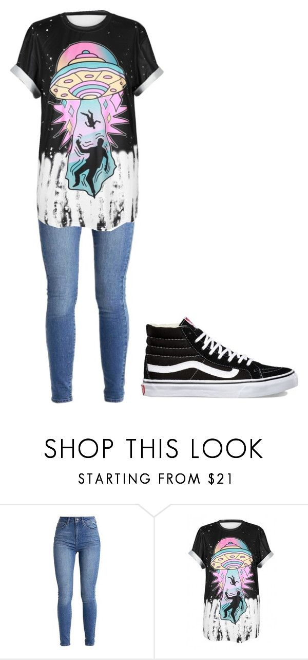 """Untitled #343"" by thenerdyfairy on Polyvore featuring WithChic and Vans"