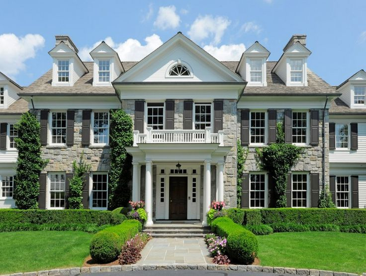 Georgian Colonial Mansion colonial mansion in greenwich, connecticut | curb appeal
