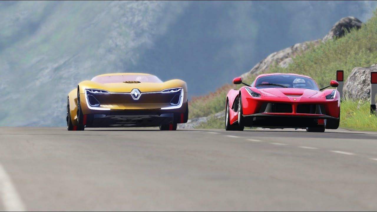 Renault Trezor Vs Ferrari Laferrari At Highlands In 2020 Ferrari Laferrari Ferrari Renault