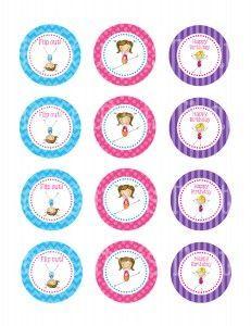 Free Printable Gymnastics Cupcake Toppers Cakepins