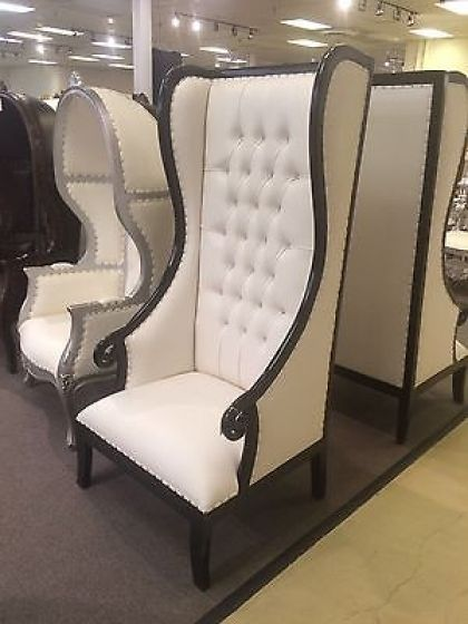 High Backed Throne Chair White Covers For Rent 1 Day Sale Absolom Roche Baroque Statement Accent Back Within