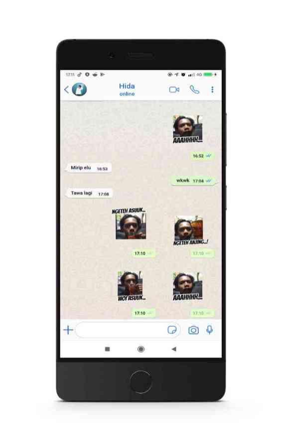 Ngeteh Asu Sticker Ngakak untuk WhatsApp Terbaru Stiker