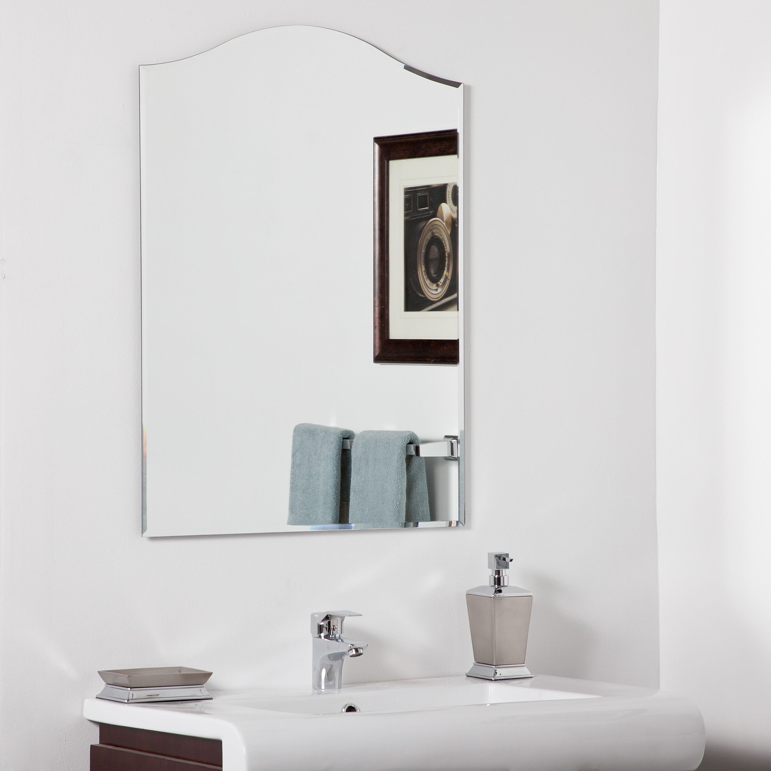 framers picture frameless bathroom pickwick service mirrors