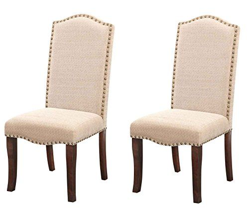 Exceptionnel Kings Brand Furniture Cream White Nailhead Trim Upholstered Dinette Dining  Room Chairs, Set Of 2 | Home Hacks | Pinterest | Nailhead Trim, Formal  Dining ...