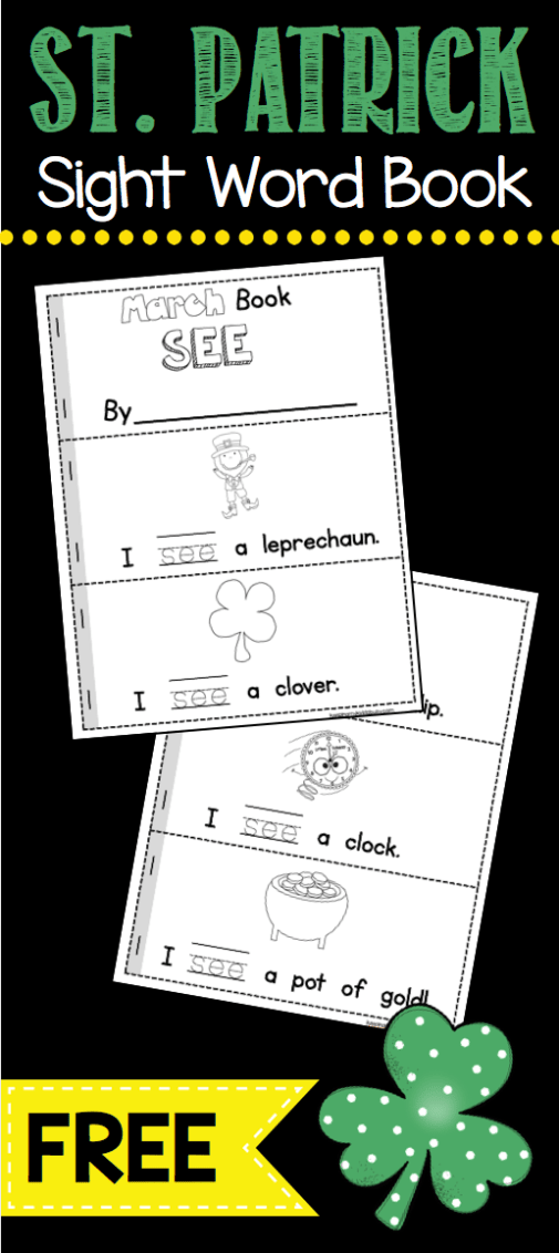 March Math & ELA Kindergarten Pack – No Prep FREEBIES   Lucky Little ...